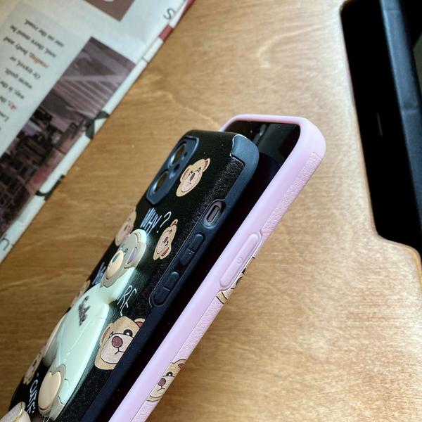 帽T小熊 小米9T pro 紅米Note8 pro 紅米Note7 浮雕手機殼 立體卡通 保護鏡頭 全包蠶絲 四角加厚