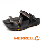 MERRELL ALL OUT BLAZE WEB 織帶拖鞋 男鞋 - 咖