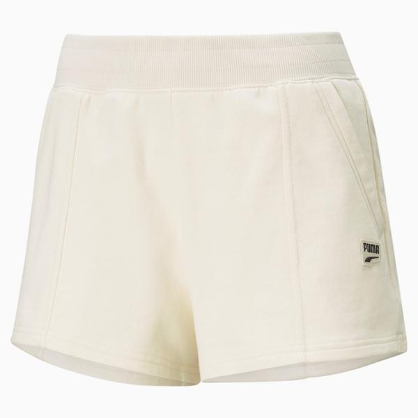 【現貨】PUMA Downtown 女裝 短褲 棉質 涼爽 休閒 徽章 口袋 米 歐規【運動世界】59967275