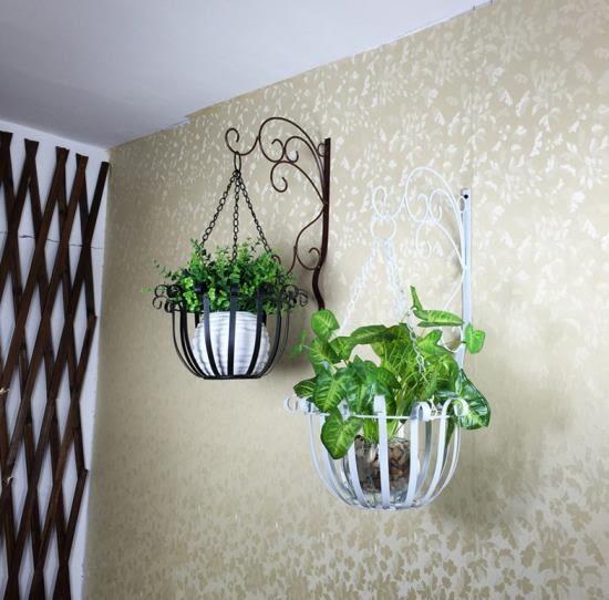 歐式鐵藝壁掛花盆架 綠蘿壁掛花架掛牆牆上室內陽台懸掛吊蘭花架