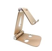 手機平板ipad電腦鋁合金屬可折疊支架通用雙旋轉懶人桌面直播支架