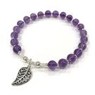 『晶鑽水晶』天然紫水晶 純銀手鍊 約5.5mm 圓珠 智慧 平穩腦波 加強記憶力 情人節 生日 禮物