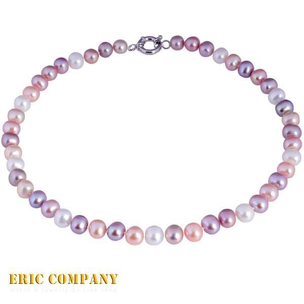 【EM eileen me】日本寶石鑑定DPS專業認證 約9~10mm~天然彩色珍珠項鍊