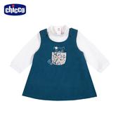 chicco-TO BE Baby-兩件式背心裙套裝-藍