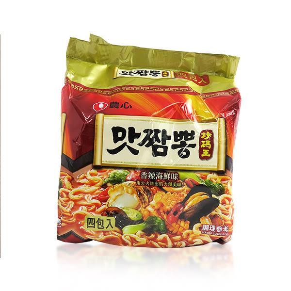 韓國 農心 辣味炒碼麵 130g/4包入 ☆巴黎草莓☆