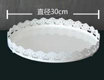 【協貿國際】蛋糕盤圓形點心盤杯子蛋糕展示盤(12寸)