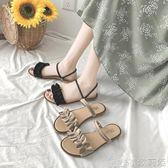 涼鞋拖鞋女外穿夏季平底兩穿時尚百搭 女鞋潮   歌莉婭