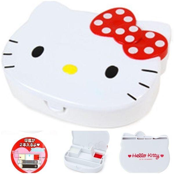 日本HELLO KITTY印鑑印章存放盒