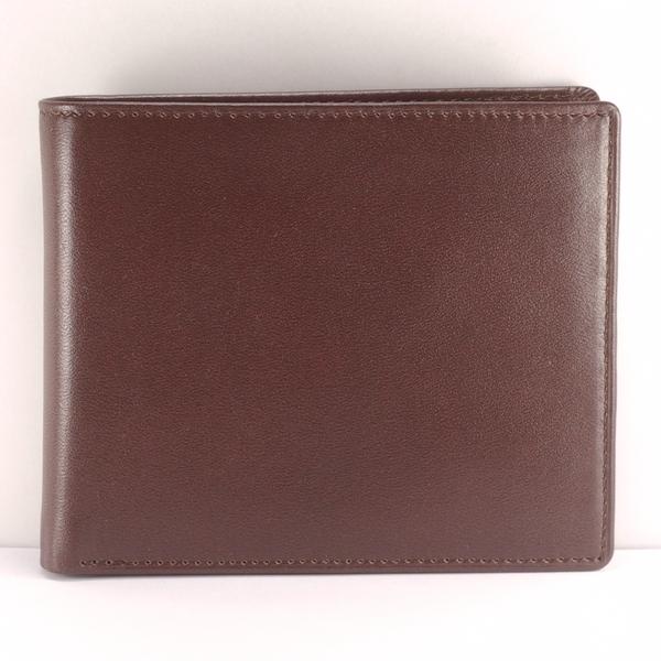 簡潔男短夾真皮皮夾 5卡相片 褐色 付費客製刻字服務