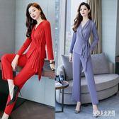 西裝套裝女秋裝女新款時尚韓版西服套裝氣質西裝兩件套 zm7158『俏美人大尺碼』