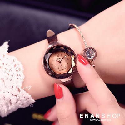 ★買1送2★惡南宅急店【0550F】手錶 立體鑽面 女錶OL唯美文青風格/石英錶金屬錶皮帶錶