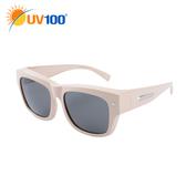 UV100 防曬 抗UV Polarized兩用太陽眼鏡-套鏡-時尚經典