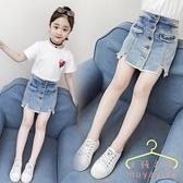 女童短褲 夏季2020新款潮兒童洋氣熱褲 牛仔褲 外穿女孩百搭褲子夏裝 萬聖節狂歡價