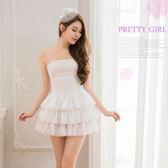 雪白平口短洋裝三件式公主派對角色扮演服 女衣閏蜜萌萌《生活美學》