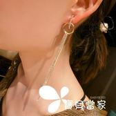 情享氣質多層鏈條流蘇耳環耳墜韓版時尚長款耳釘韓國圓圈耳飾品女