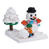 《 Nano Block 迷你積木 》NBH-165 雪中玩耍╭★ JOYBUS玩具百貨