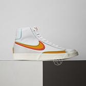 Nike Blazer MID 77 Infinite 男鞋 白橘 皮革 復古 高筒 休閒鞋 DA7233-100