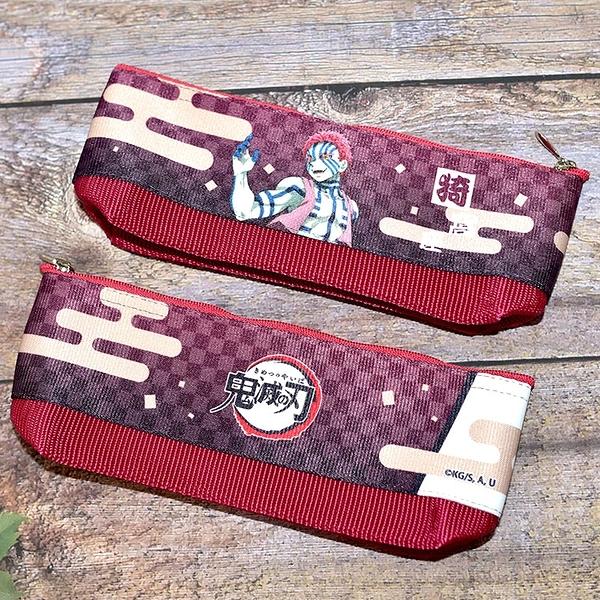 日本製 鬼滅之刃 無限列車 猗窩座 筆袋 筆盒 文具袋 日本販售正版 POLY製