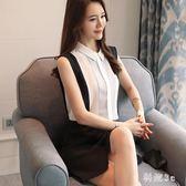 韓版吊帶背心上衣女新款外穿內搭雪紡無袖T恤打底衫 js5014『科炫3C』