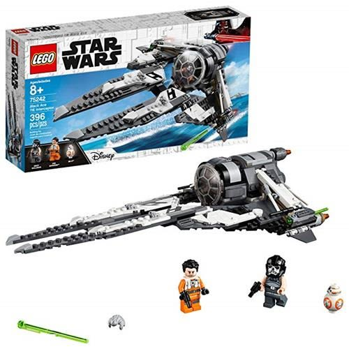 LEGO 樂高 Star Wars Resistance Black Ace TIE Interceptor 75242 Building Kit (396 Piece)