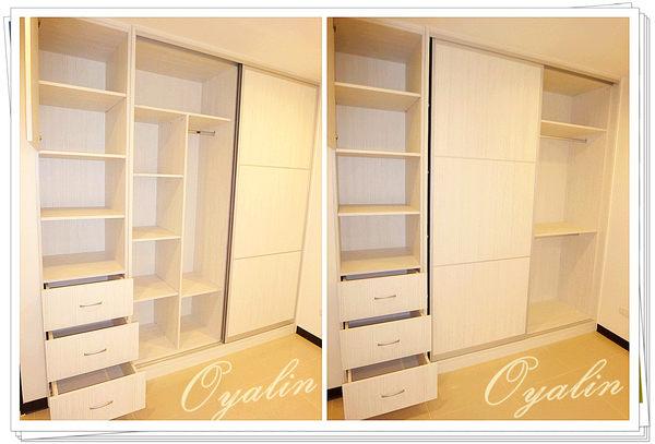 【歐雅 系統家具 】鋁框推拉門衣櫃搭配側邊開放式收納櫃