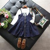 氣質格子背帶裙 肩帶可調 (不含上衣) 中童 橘魔法Baby magic  現貨 女童 格子 背帶裙 吊帶裙