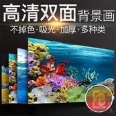 雙面 水族背景貼紙魚缸背景紙壁紙水族箱【櫻田川島】