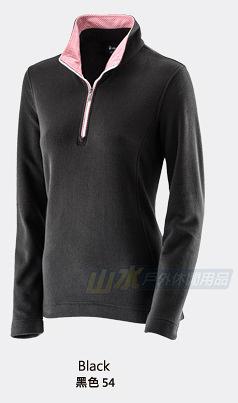 【山水網路商城】荒野 WILDLAND 女彈性奈米銀PILE保暖上衣/刷毛衣/機能排汗衣 0A22501 黑色