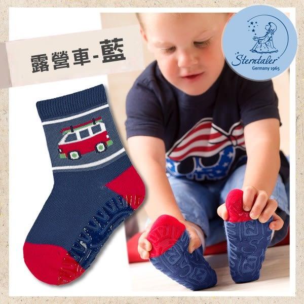 防滑輕薄學步襪-露營車藍(9cm) STERNTALER C-8021602-356
