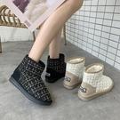 雪地靴-冬季新款雪地靴女一腳蹬短筒加絨加厚百搭保暖時尚小香風棉鞋