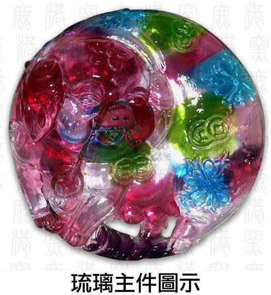 鹿港窯~居家開運L水晶鑲琉璃~發財豬◆附精美包裝◆附古法制作珍藏保證卡◆免運費送到家