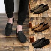 豆豆鞋休閒鞋子英倫潮流男士學生百搭一腳蹬男鞋  全館免運