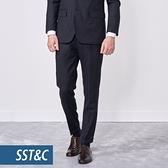 SST&C 男裝 米蘭系列灰紋理修身西裝褲 | 0212010003