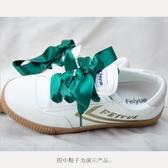 鞋帶 【2件】絲質鞋帶雪紗綢緞鞋帶蝴蝶結小白鞋彩色鞋帶 聖誕節館