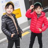 兒童輕薄羽絨棉服連帽冬裝中大男童女童棉衣寶寶棉襖外套  酷男精品館