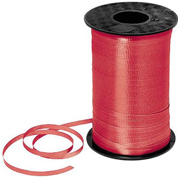 氣球亮面緞帶-紅