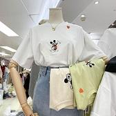 棉質卡通刺繡T桖上衣-大尺碼 獨具衣格 J3676