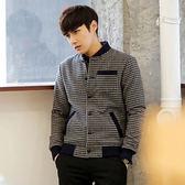 PoCo 韓式風格韓系外套千鳥格紋外套 款潮男夾克歐巴的低調穿著~C139 ~