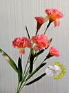 [橘色] 一支5朵花 人造康乃馨.假康乃馨.仿真康乃馨 母親節禮物花束☆人造花.居家.店面.櫥窗擺飾