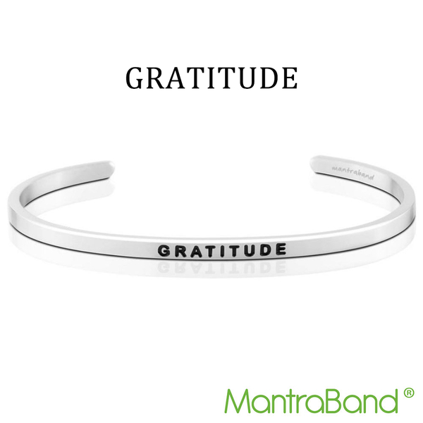 Mantraband | GRATITUDE 感激 - 悄悄話銀色手環 台灣官方總代理