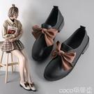 熱賣單鞋 小皮鞋女英倫鞋子女2021年新款秋鞋百搭潮秋天黑色豆豆鞋單鞋 coco