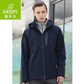 【瑞多仕 RATOPS 男 SOftshell防水透氣夾克《黑色》】RAS-750/保暖外套/防風/旅遊