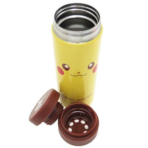 日本直送 Pokemon 寶可夢 神奇寶貝 皮卡丘不鏽鋼保溫瓶 350ml 該該貝比日本精品 ☆