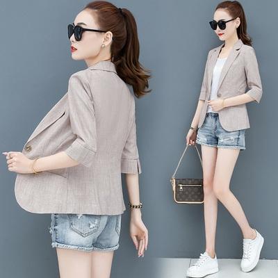 西裝外套女裝M-3XL小西裝外套女夏季韓版短款小個子網紅休閑爆款西服上衣薄款T153韓衣裳