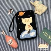 萬用包~雅瑪小舖日系貓咪包 啵啵貓宇宙星球萬用收納包/護照夾/收納袋/拼布包包