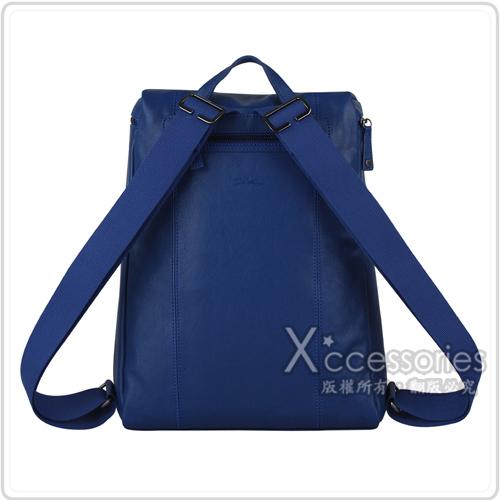 LONGCHAMP PARISIS系列羊皮後背包(藍)