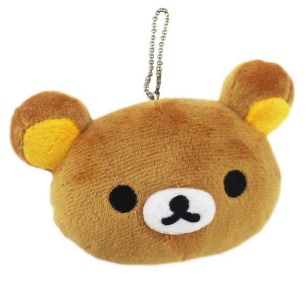 【卡漫城】 拉拉熊 吊飾 高7cm 咖啡色 ㊣版 迷你 玩偶 Rilakkuma 懶懶熊 絨毛 鍊珠 娃娃