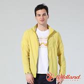 【wildland 荒野】男 N66彈性透氣抗UV外套『檸檬黃』0A81902 戶外 休閒 運動 防曬 露營 登山 騎車