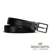 【BRAUN BUFFEL】極簡紳士品格穿針式皮帶(鎗色)BF19B-803T-SGU