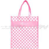 ☆17go☆ ETTUSAIS 艾杜紗 粉色方格購物手提袋